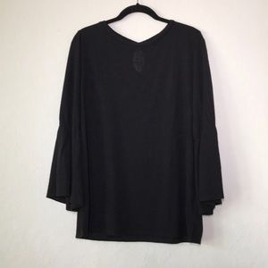 Sanctuary | Black Bell Sleeve Sweater